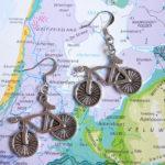 fiets oorbellen